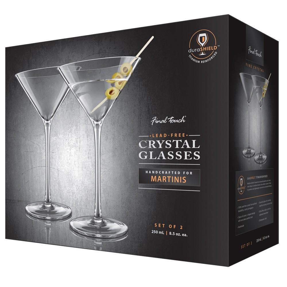 Final Touch Durashield Martini Glass 2 Pk