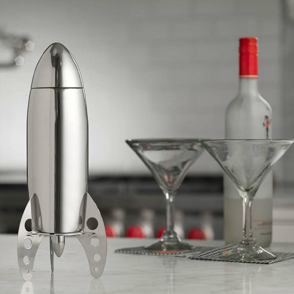 Rocket Shape Stainless Steel Cocktail Shaker 500ml