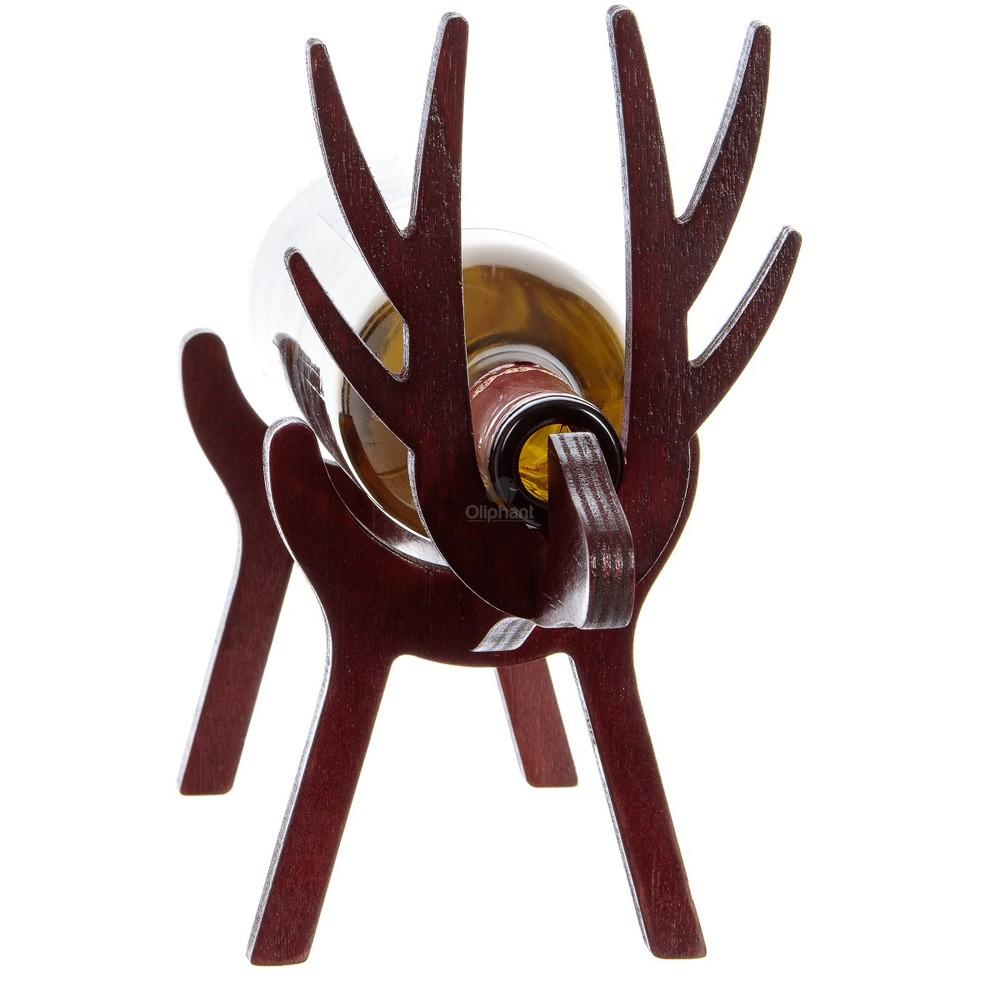 Vinology Wooden Bottle Holder Reindeer