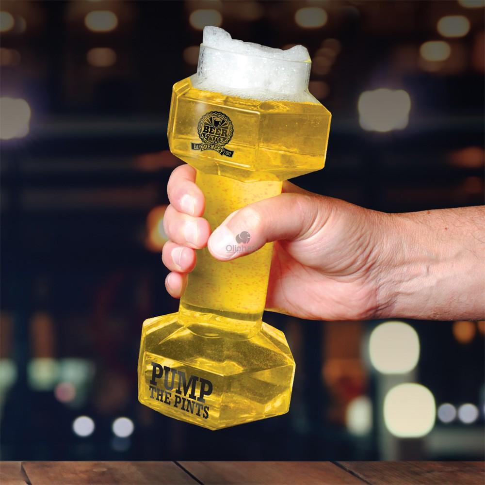 Beer OClock Dumbell Beer Glass