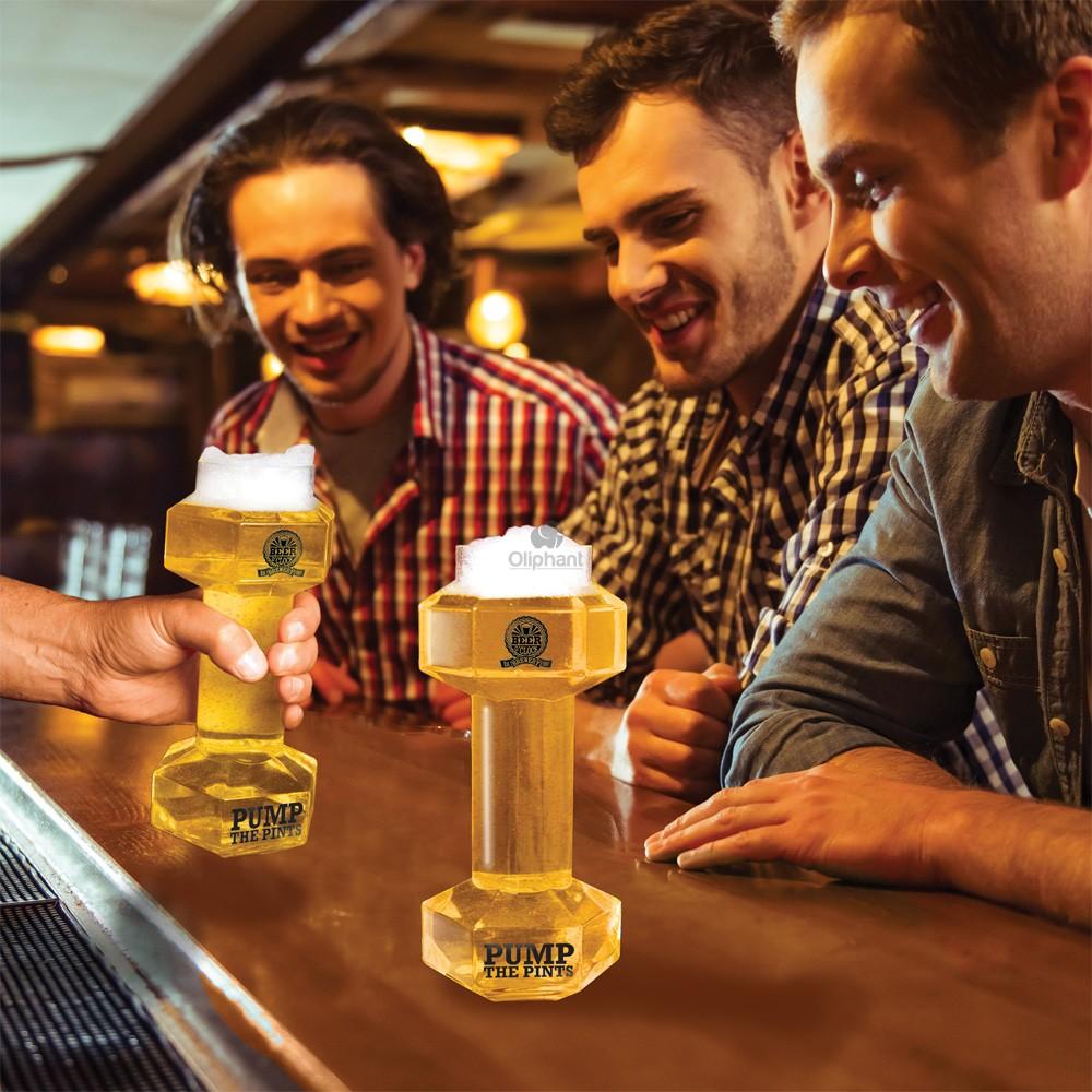Beer OClock Dumbbell Beer Glass