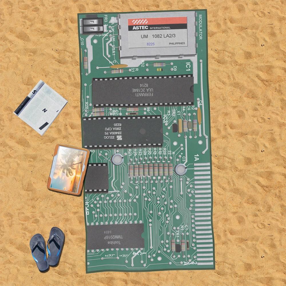 Motherboard Beach Towel