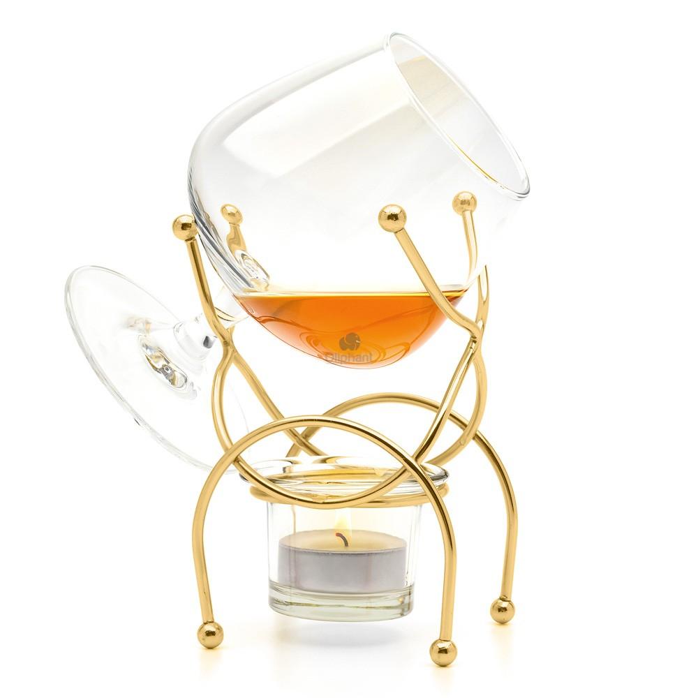 Bar Orignale Brandy Warmer Set Deluxe Gold