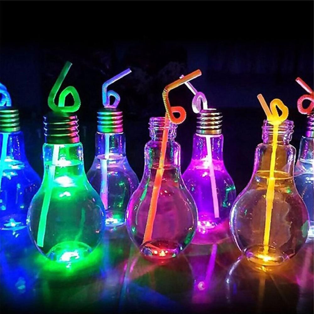 Mixology Flashing Light Bulb Glass