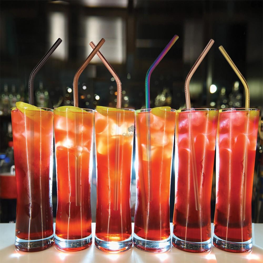 Bar Bespoke 6 Rainbow Steel Straws
