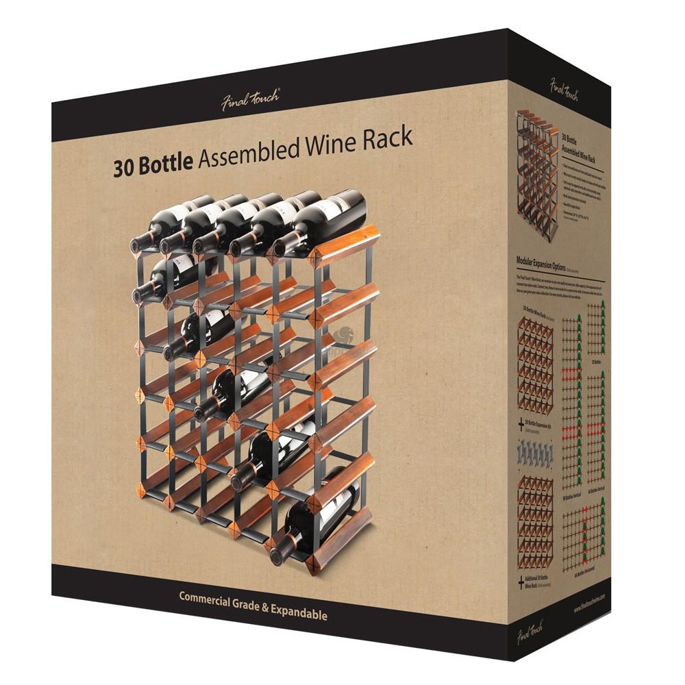 Final Touch 30 Bottle Assembled Wine Rack