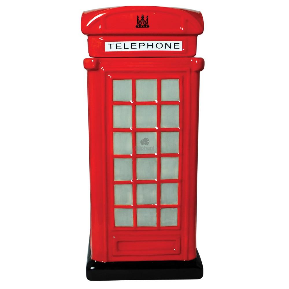Red Telephone Box Ceramic Biscuit Jar