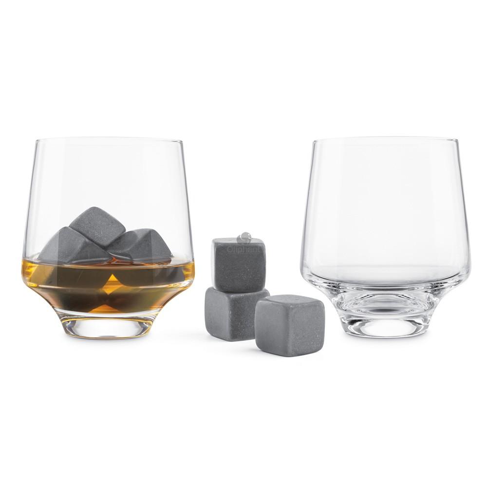 Final Touch Chilling Stone Rocks Glass Set - 8 Piece Set