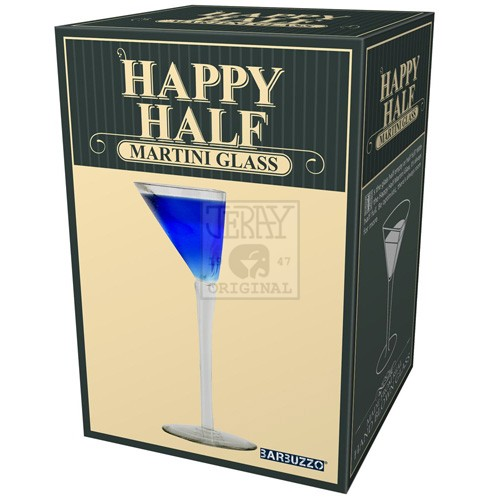 Happy Half Martini Glass