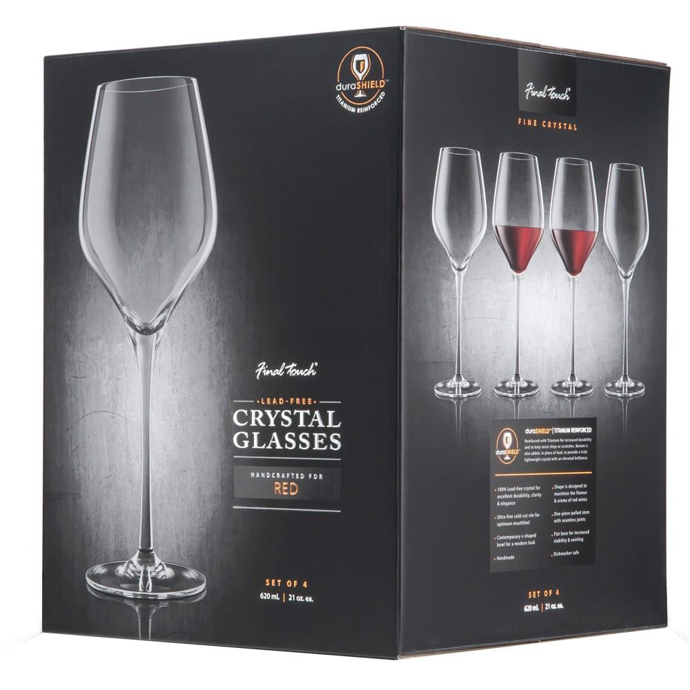 Final Touch Durashield Red Wine Glass 4 Pk