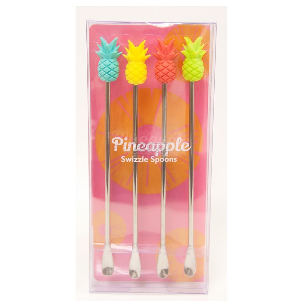 Pineapple Swizzle Spoons 4 Pack