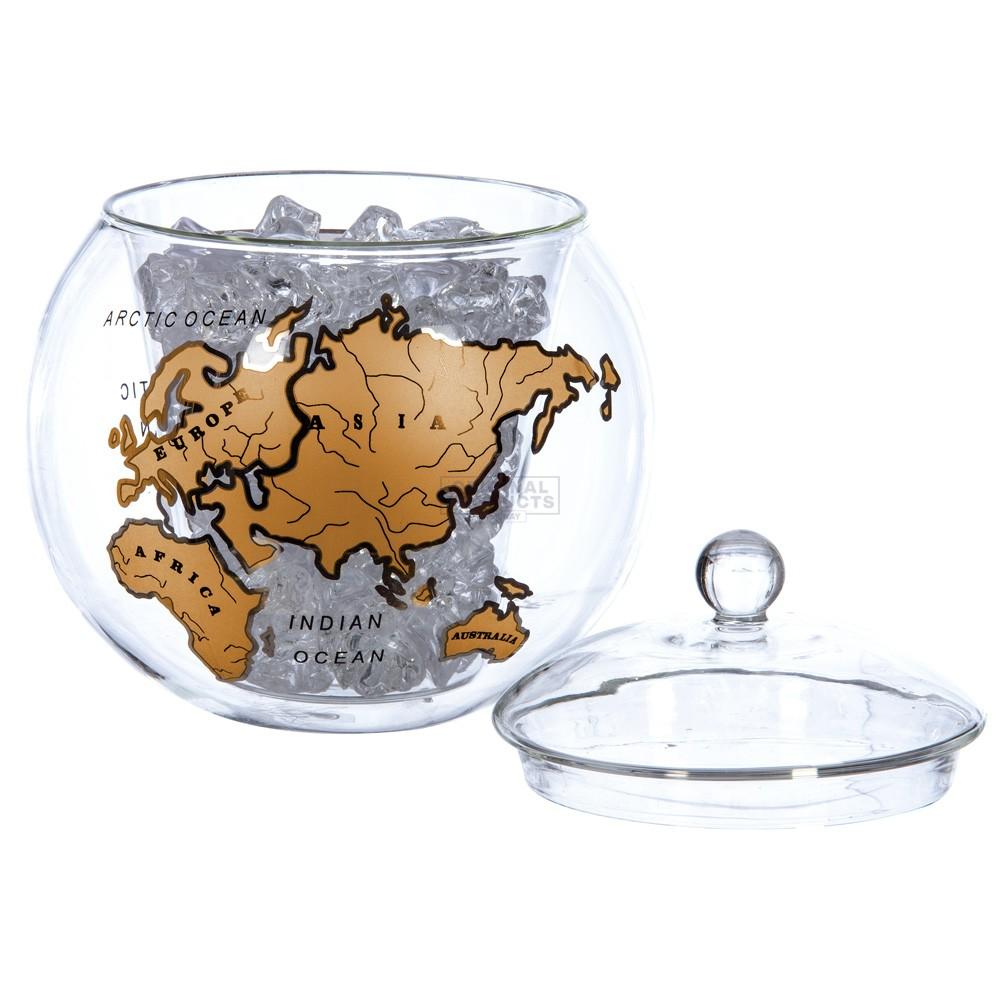 Mixology Vintage Globe Ice Bucket Gold