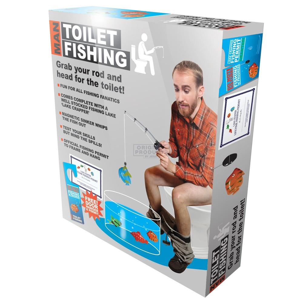 Man Toilet Fishing