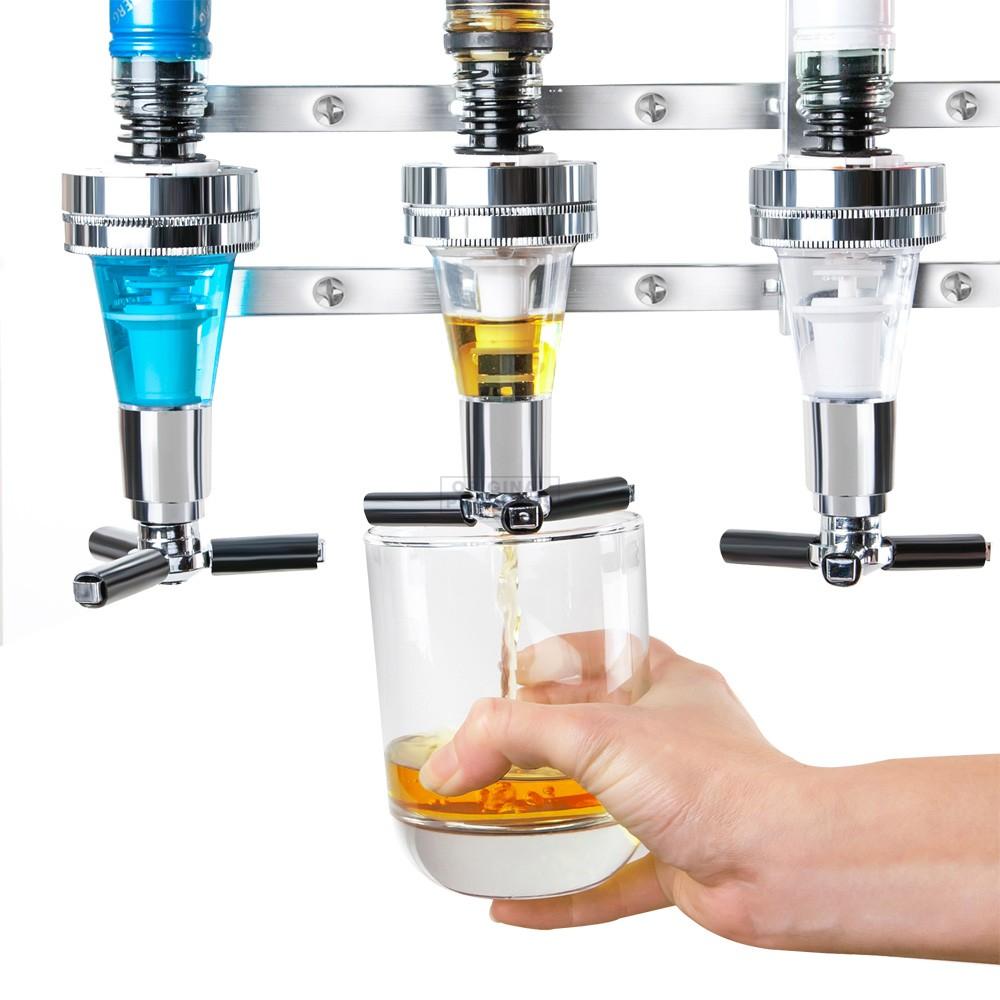 4 Bottle Wall Mounted Drinks Dispenser