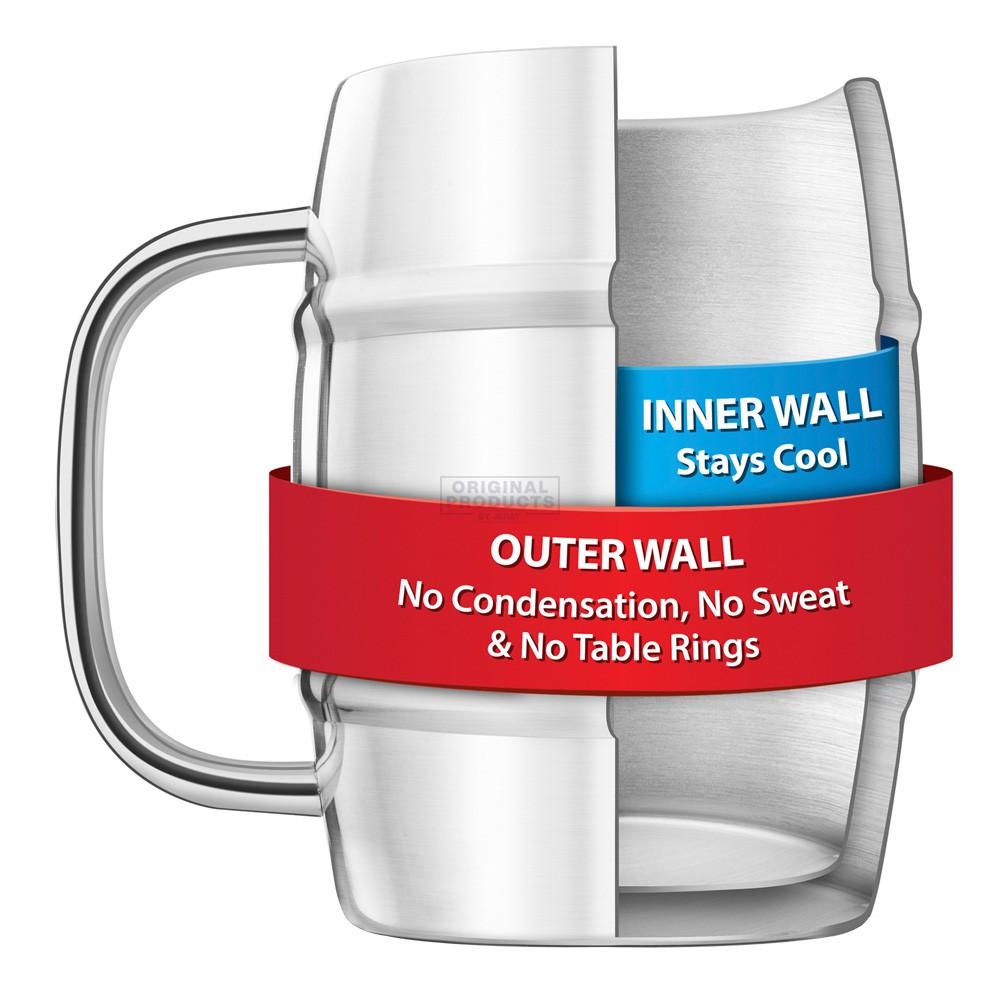 Final Touch Jumbo Double Walled Beer Keg Mug