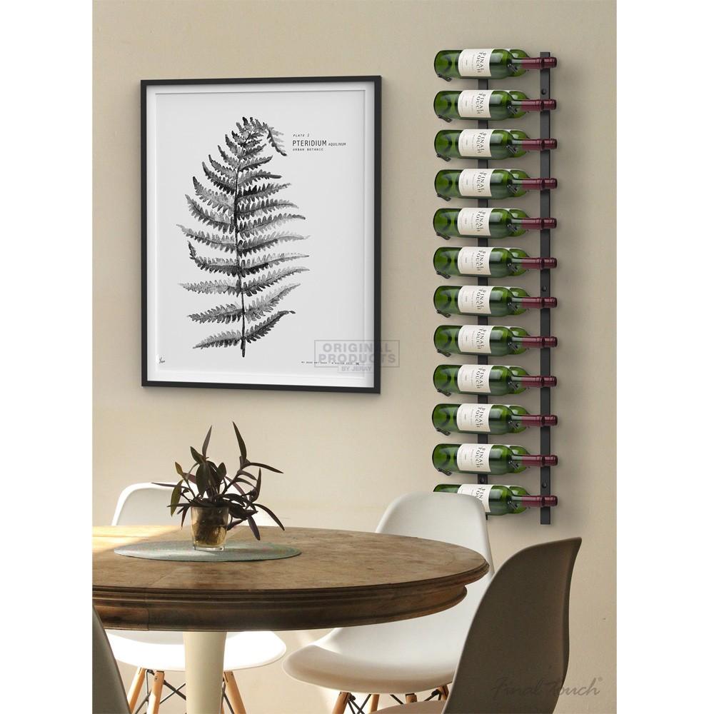 Final Touch Wall Mounted Wine Rack 24 Bottle