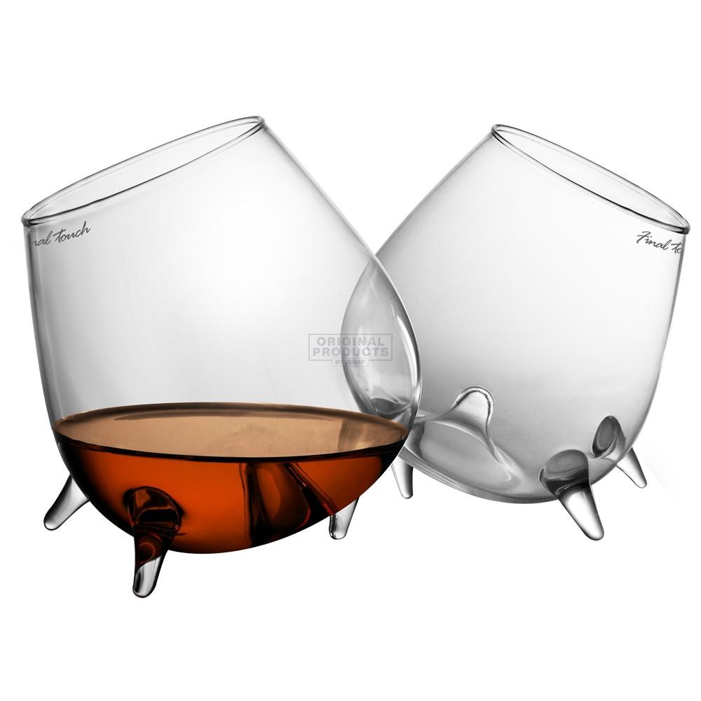 Final Touch Relax Cognac Glasses 2pk