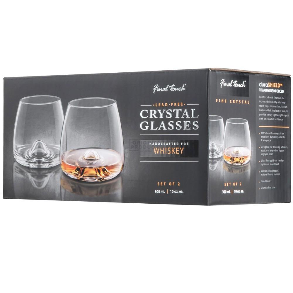 Final Touch Durashield Whisky Glass 2 Pk