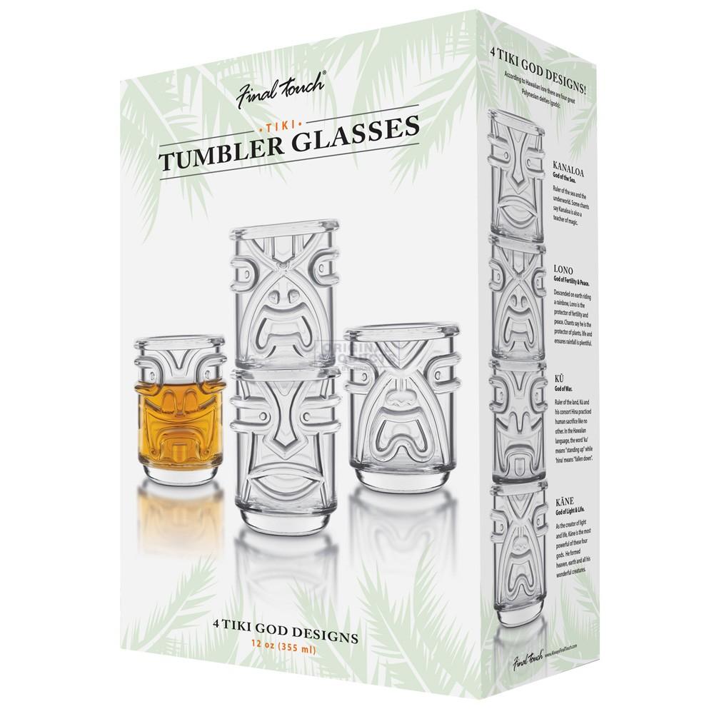 Final Touch Tiki Tumbler Clear 4 Pk