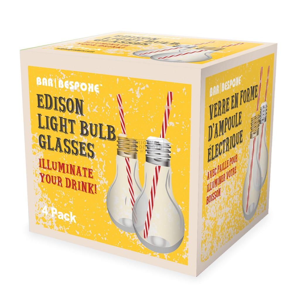 Bar Bespoke Edison Light Bulb Glasses 4 Pk