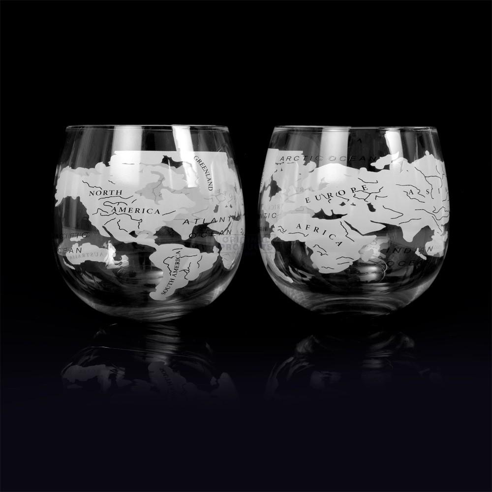 Bar Originale Globe Rocker Glasses 2 Pk