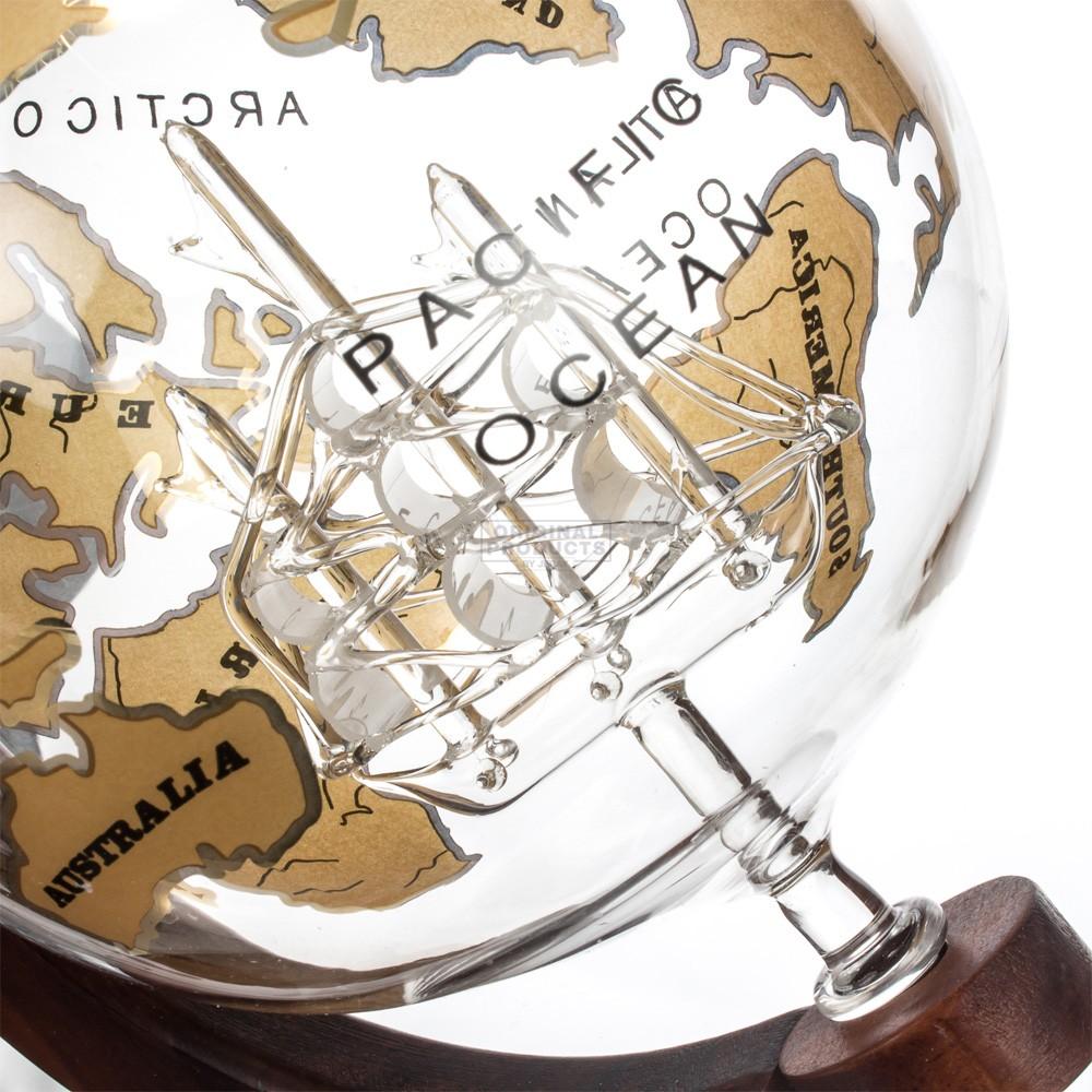 Mixology Vintage Globe Decanter Gold Ship