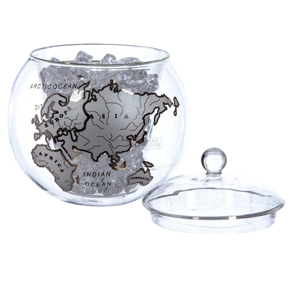 Mixology Vintage Globe Ice Bucket Silver