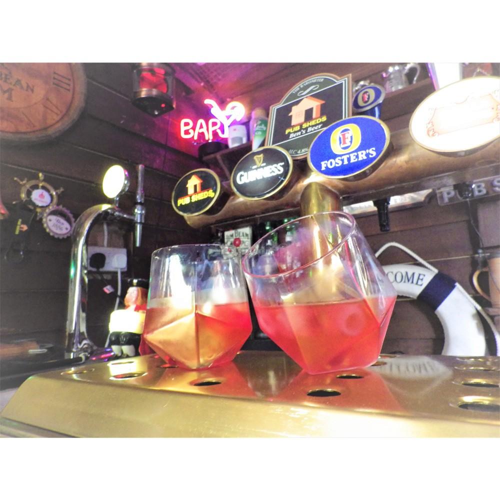 Bar Bespoke Diamond Spirit Glass 2 Pack