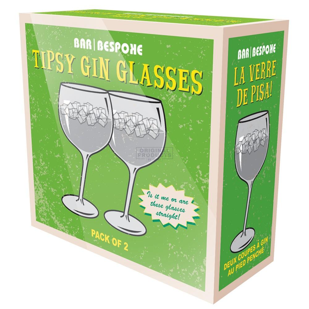 Bar Bespoke Tipsy Gin Glass 2 Pack