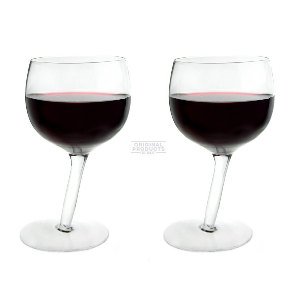 Bar Bespoke Tipsy Wine Glasses 2 Pack