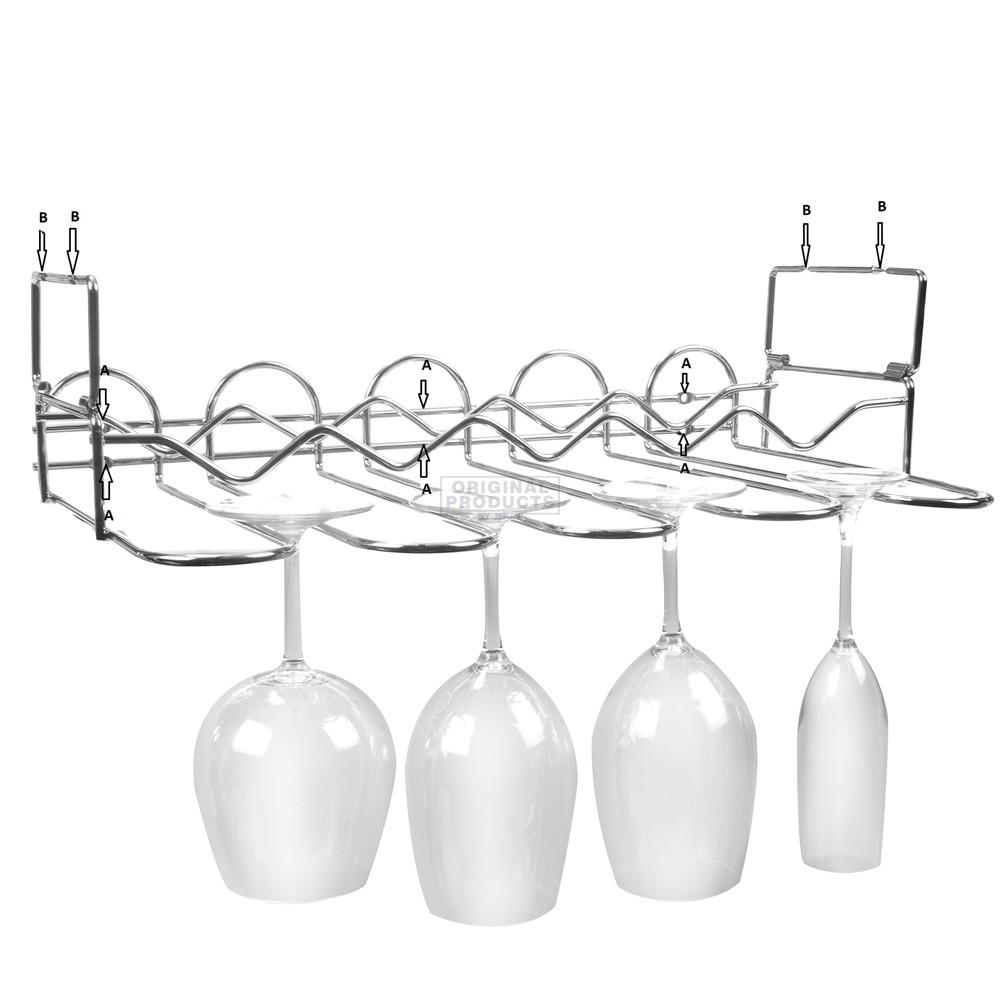 Vinology Undercabinet Bottle and Glass Rack