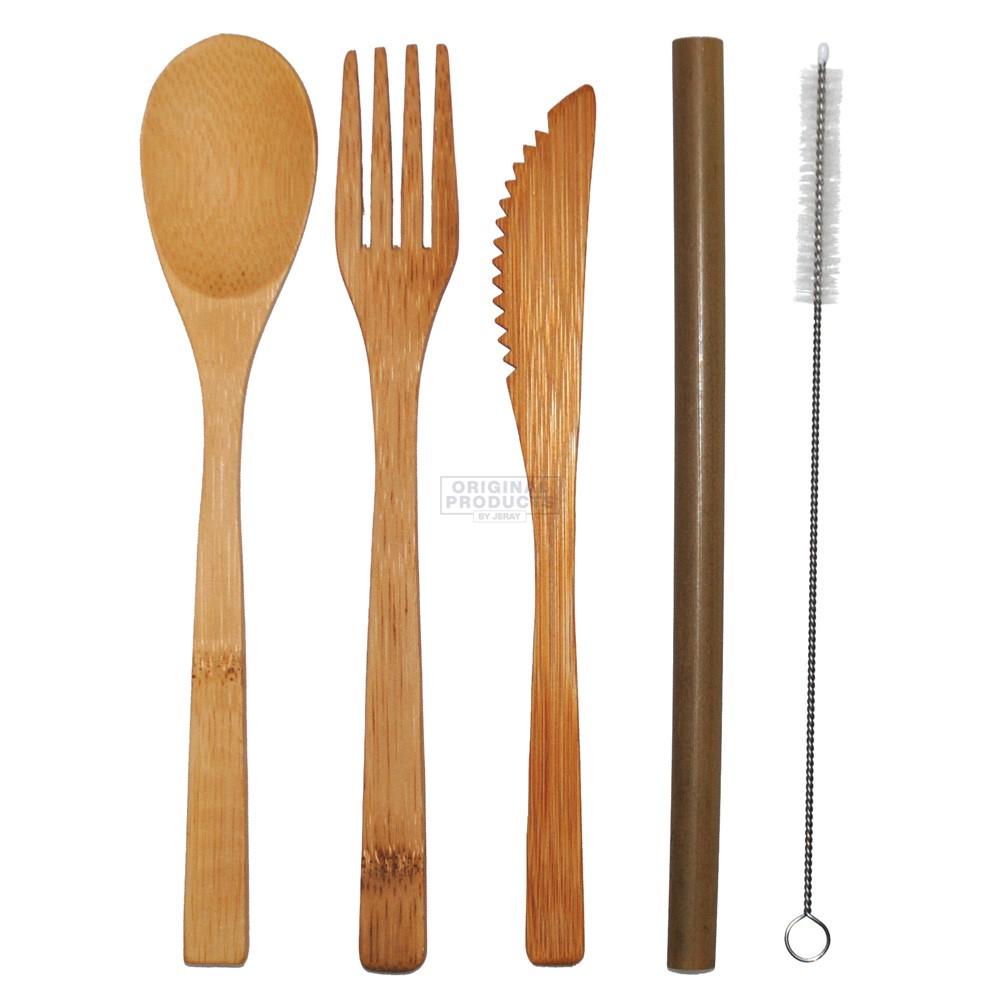 Bar Bespoke EatEco Bamboo Cutlery Set