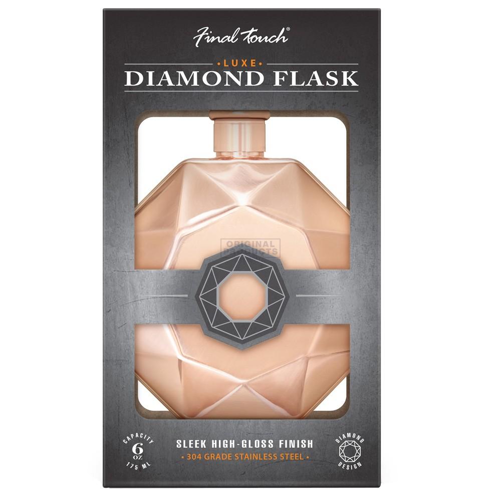 Final Touch Diamond Flask Copper