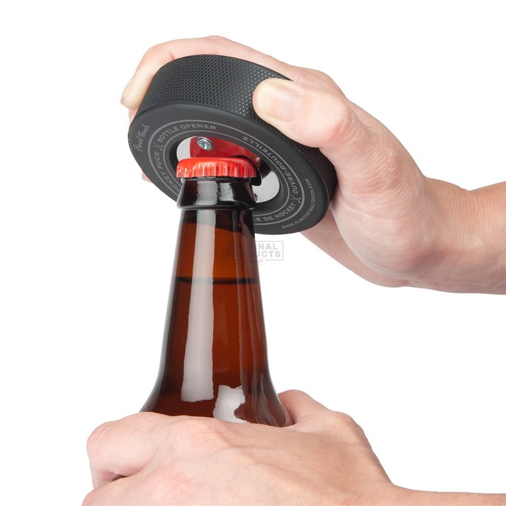 Final Touch Hockey Puck Beer Opener