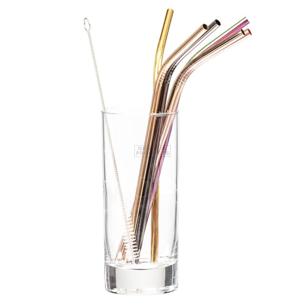 Bar Bespoke Coloured Steel Straws 6pk
