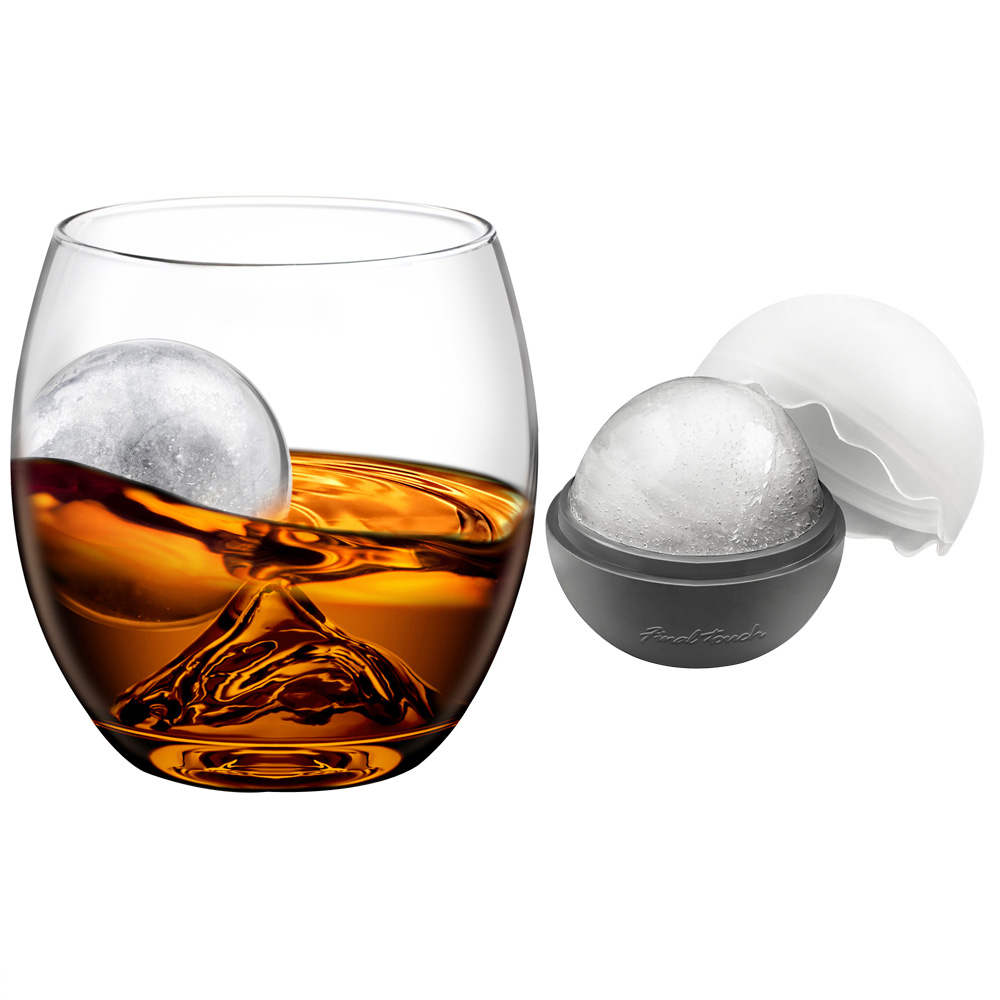 On the Rocks Glass and Ice Ball Mould Set