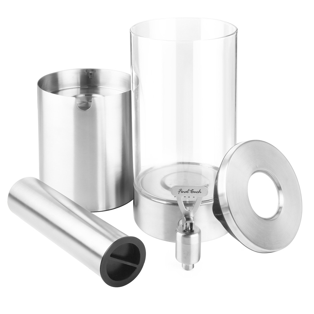 Final Touch 1.5L Stainless Steel & Glass Drinks Dispenser